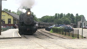 Train sitting at the station (2 of 3). A view or scene of Transportion stock footage