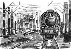 Train sketch Stock Images