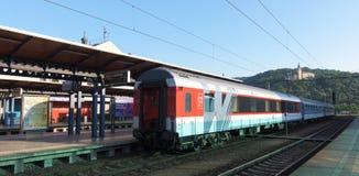 Train with sleeping car to Slovakia Royalty Free Stock Photo