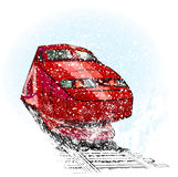 Train in snow Stock Images