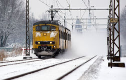 Train in snow Royalty Free Stock Images