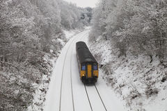 Train in the snow Royalty Free Stock Image