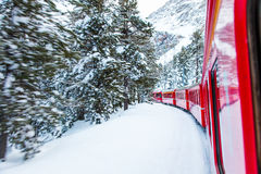 Train in the snow Royalty Free Stock Photography