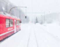 Train in the snow Stock Photography