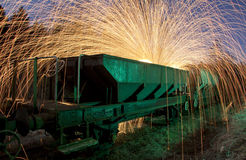 Train and sparks Royalty Free Stock Photo