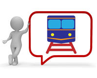 Train Speech Bubble Represents Dialogue Railroad And Trains 3d Rendering Royalty Free Stock Photos