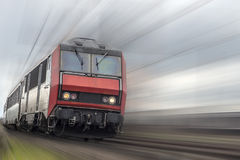 Train with speed effect Royalty Free Stock Photography