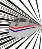 The Train in speed. The train in full speed in the railway Royalty Free Stock Images