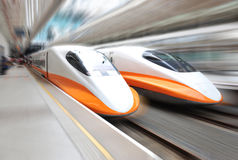 Train speeding Royalty Free Stock Photos