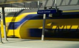 Train speeding away royalty free stock photos