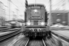 Free Train Speeding Black And White Royalty Free Stock Images - 93432729