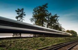 Train speeding passed Stock Photo