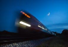 Train speeding passed Royalty Free Stock Photo