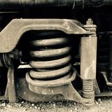 Train spring. Spring from an old locomotive Royalty Free Stock Image