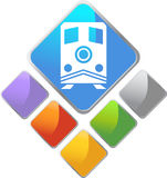Train Square Icon Royalty Free Stock Images