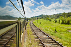 Train in Sri Lanka Royalty Free Stock Photo