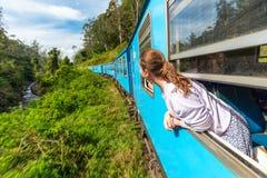 Train in Sri Lanka stock photo