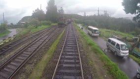 Train srilanaka abewela. Abewela trainsrilanka phanthom shot 2015/07/28 stock video footage