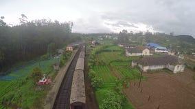 Train srilanaka abewela stock video footage