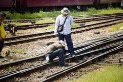 Train staff Stock Photo