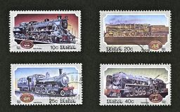 Train Stamps Stock Images