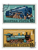 Train Stamps Royalty Free Stock Image