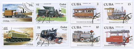 Train Stamps Royalty Free Stock Photo