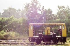 Train. Static train on railway track stock image