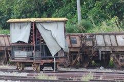 Train. Static train on railway track stock photography