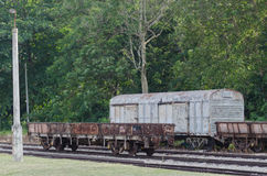Train. Static train on railway track stock photo