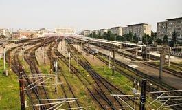 Train station. Gara de Nord(North's Station)railway station in Bucharest royalty free stock photos