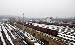Train Station. View of the train station in winter Royalty Free Stock Photo
