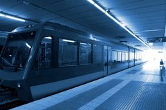 Train station. A train at a train station Royalty Free Stock Image