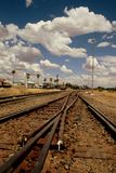 Train station. A train station in the plain desert Royalty Free Stock Photography
