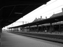 At the train station. Malbork train station in Poland Royalty Free Stock Photo