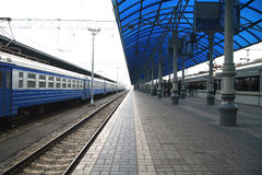 Train in station Stock Image