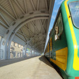 Train on the station Royalty Free Stock Photography