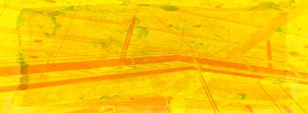 Train station abstract in warm yellows on grunge background Stock Image