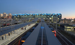 Train station of Adler, Sochi, Russia Royalty Free Stock Photos