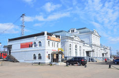 Train station in Aleksandrov, Vladimir region, Russia Royalty Free Stock Photos