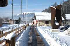 Train station in Alps Stock Photography