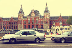 Train Station in Amsterdam Stock Image