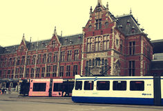 Train Station in Amsterdam Royalty Free Stock Images