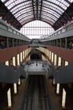 Train station in Antwerp, Belgium. Train in station in Antwerp, Belgium Stock Images