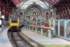 Train in station Stock Photography