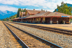 Train Station Architecture of Banff Royalty Free Stock Photos