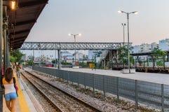 Train station athens Stock Photo