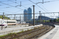 Train Station in Barcelona Stock Images