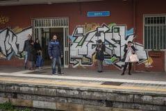 Train station, Barri, Italy. Stock Photography