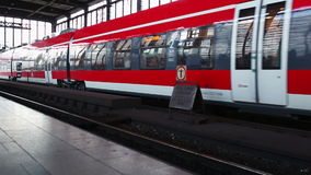 The train at the station in Berlin stock video